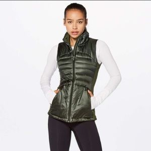 Lululemon Down For A Run Vest II Gator Green
